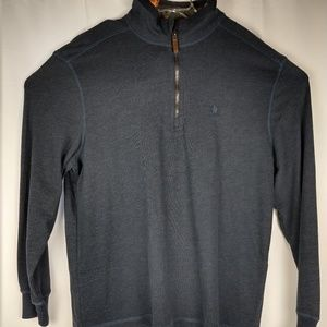 G.H. Bass & Co. Mens Half-Zip Pullover Sweater L